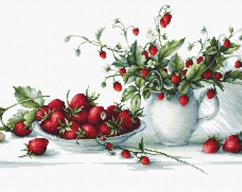 Strawberries SB2277 - Cross Stitch Kit by Luca-s