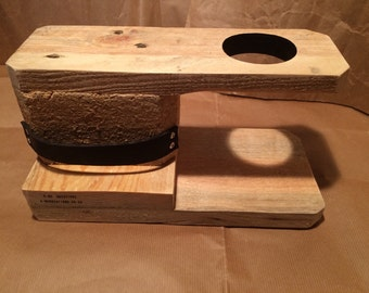 V60 Drip Stand (Reclaimed coffee shipping pallets) 1 Cup - Bookend style: Right hand