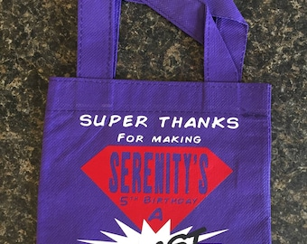 Set of 8 party favor bags