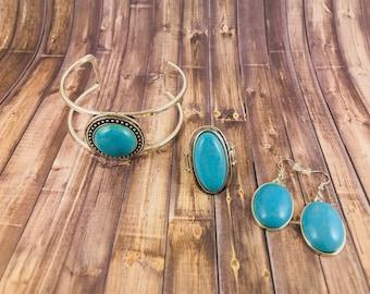 Boho Turquoise Set