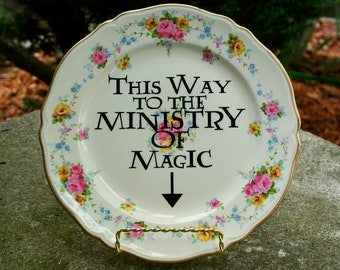 This Way To The Ministry Of Magic Harry Potter HP Hogwarts Wizards Plate Wall Decor