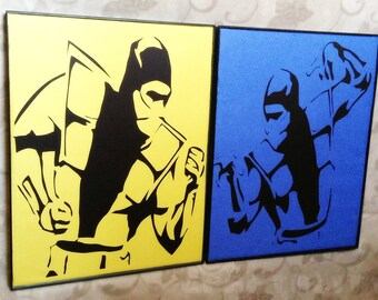 Classic Mortal Kombat Scorpion & Subzero Papercut Set