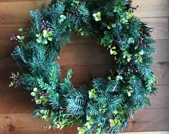 Joyful Joyful- Winter Wreath-Wreaths