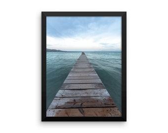 Beautiful Ocean-Dock Framed Poster