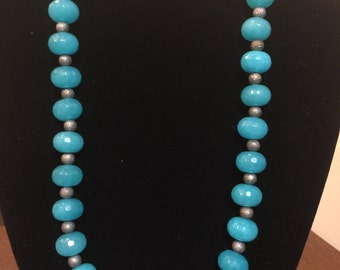 Turquoise Necklace & Earring Set w/ magnetic clasp
