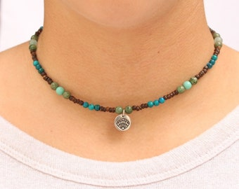 Waterproof Boho Beaded Choker Necklace