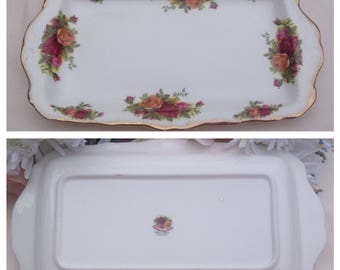 "Royal Albert Slice Tray ""Old Country Roses"" Design"