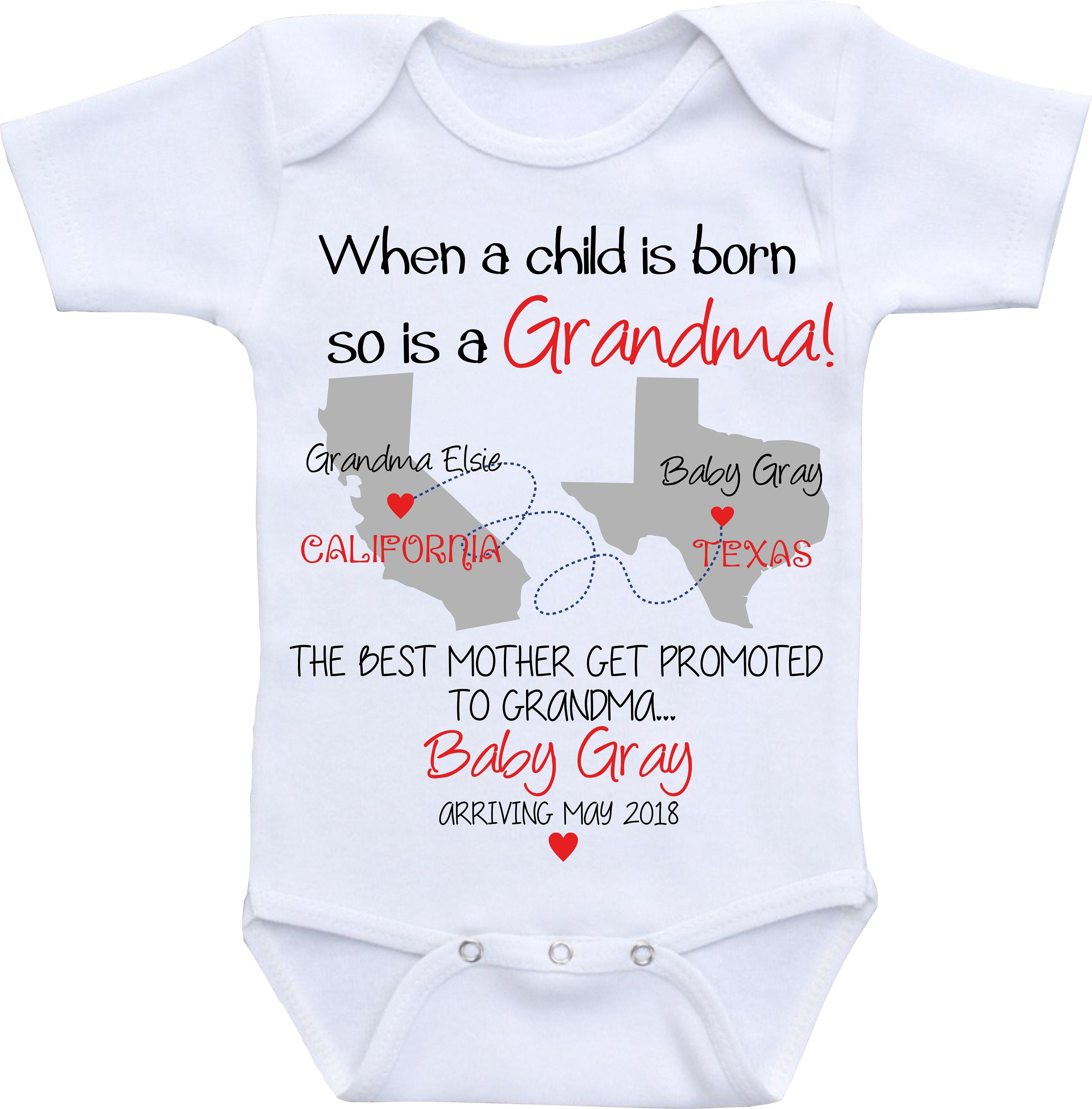 Grandma Baby Announcement shirt Pregnancy Announcement esie