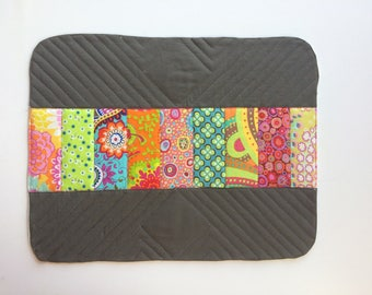 Patchwork table mats - modern table mats - table linens