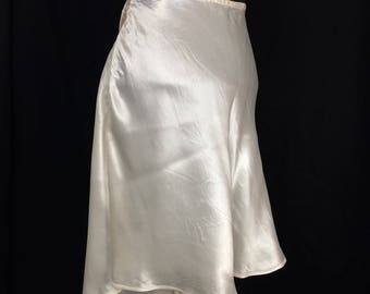 1940's CC41 Bias Cut Ivory Satin French Knickers - Tap Pants - UK 16