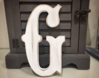 Painted Wooden Letter - Large G, Circus Font, 40cm high, 16 inch, any colour, wall letter, wall decor, 18mm