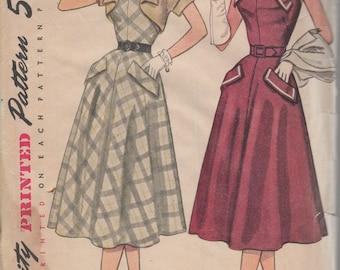 Bust 32-1950's Misses' Halter Dress and Bolero Simplicity 8395 Size 14