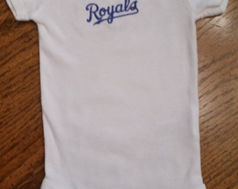 Kansas City Royals Infant Onesie/bodysuit. Short sleeves.