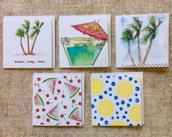 Square Gift Tags - Breezes