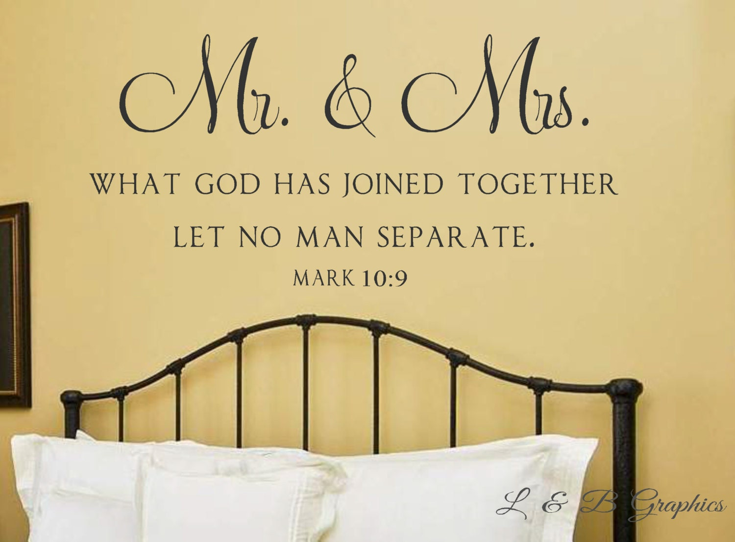 Mr. and Mrs. What God has joined together Mark 10 9 Vinyl