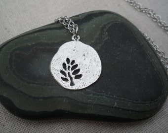 Silver Tree Necklace Tree of Life Jewelry Simple Everyday Silver Necklace