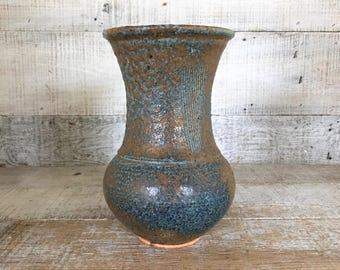 Vase Pottery Vase Mid Century Vase Handmade Vase Stoneware Vase Pottery Flower Vase Boho Pottery Unique Vase Studio Pottery Vase