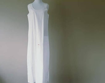 L / Top She / Slip / White Polished Cotton / Vintage / New W/ Tags/ Large