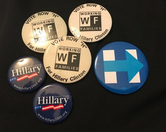2000s Various Hillary Clinton Political Buttons