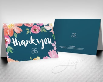 Arbonne A6 personalised folded note card (04) – digital files supplied only