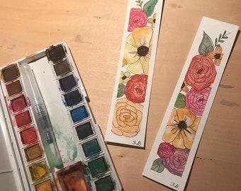 Flora + Watercolor + Set of Bookmarks ORIGINAL ART
