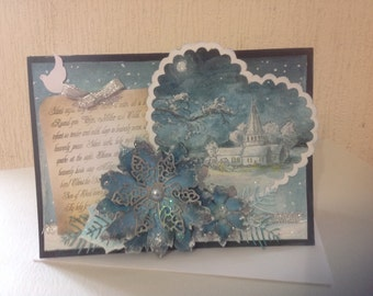 Handmade Silent Night Christmas Card