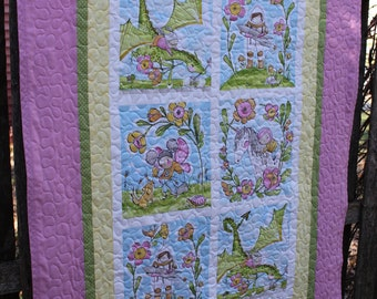Girl Power Dream Big Quilt // Toddler Quilt // Toddler Gift // Girl Quilt // Baby Quilt // Baby Gift // Shower Gift