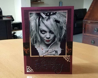Gothic Birthday Card - luxury personalised unique quality special vampire twilight fantasy UK - male/female