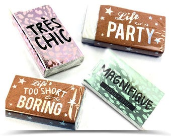 1pc Big large eraser white in case | wrapped carton | life is a PARTY - Magnifique - Life's too short to be boring -Très chic : Model choice