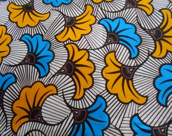 Little coupon of African fabric, real wax coupon, 45 cm x 116 cm
