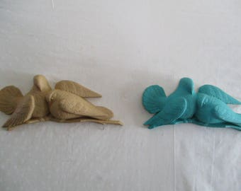 Homco Love Dove  Mustard or Teal/duck egg blue