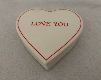 Tiffany & Co. Love You Heart Shaped Trinket Box