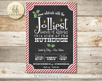 Holiday Party Invitation // Christmas Vacation Clark Griswold Theme // Red, Green, Gold // Ugly Christmas Sweater