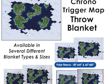 Chrono Trigger World Map - Throw Blanket / Tapestry Wall Hanging