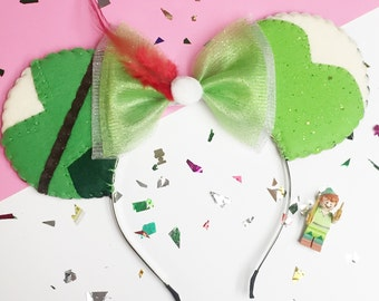 Peter Pan and Tinkerbell Minnie Mouse Ears Headband