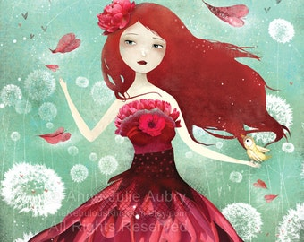 The Flower Fairy - Deluxe Edition Print - Whimsical Art