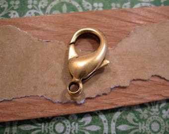 Lobster Clasp 22.5mm in Antique Gold from Nunn Design - each