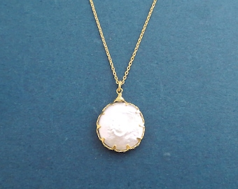 Natural, Mother of Pearl, Gold, Necklace, Big, Pearl, Necklace, Birthday, Best friends, Sister, Gift, Jewelry