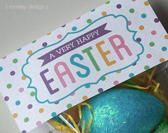 Easter tags printable easter favor tags easter gift tags instant download printable easter treat bag toppers digital pdf diy easter printables negle Image collections
