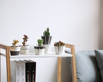 office planter. Set Of 5 - Simple Style Ceramic Planters,Succulent Planter, Mini Planter ,Ceramic Office N