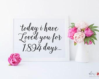 I Have Loved You For. Wedding Signs. Wedding Printables. Wedding Print. Printable Signs. Wedding Signage. Printable Wedding Sign.