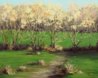 Winter Greens - Large Original Landscape Painting