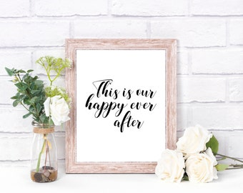 Art Print | Our Happy Ever After | Home Decor