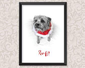 Ruff! (A4) print