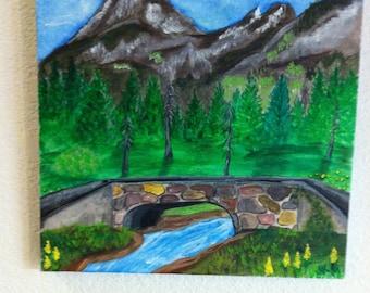 Headwaters Bridge acrylic on canvas