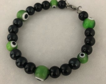 Green lucky eyes Bracelet