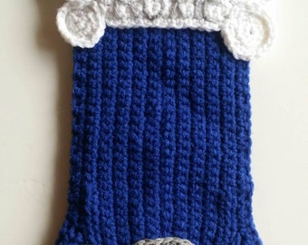 Crochet Personalized Chanukah Dog Stocking
