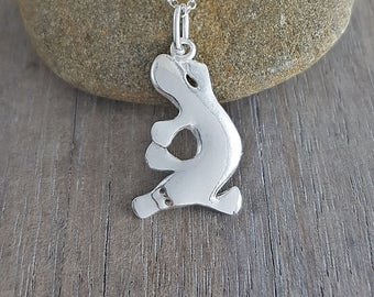 platypus pendant  in sterling silver