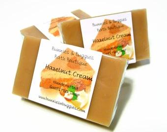 CLEARANCE Hazelnut Cream Soap Handmade MINI GUEST Bar Goats Milk Soap Bars