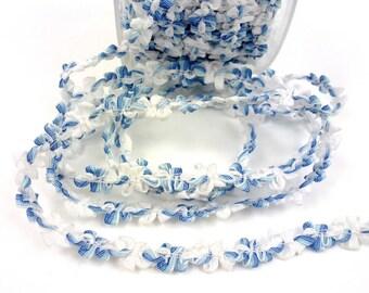 1 m for design - blue fancy Ribbon trim